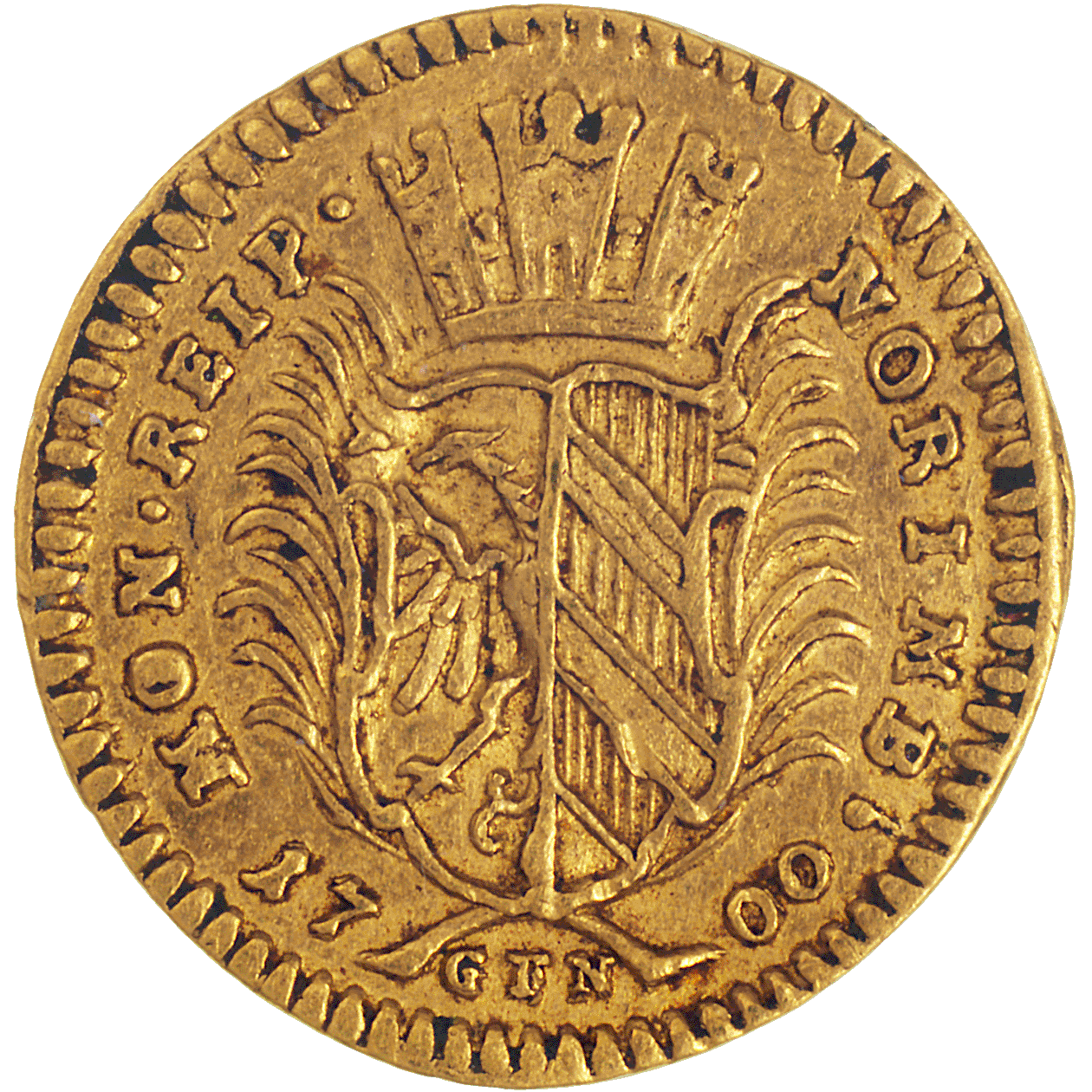 Holy Roman Empire, City of Nuremberg, 1/4 Ducat (obverse)