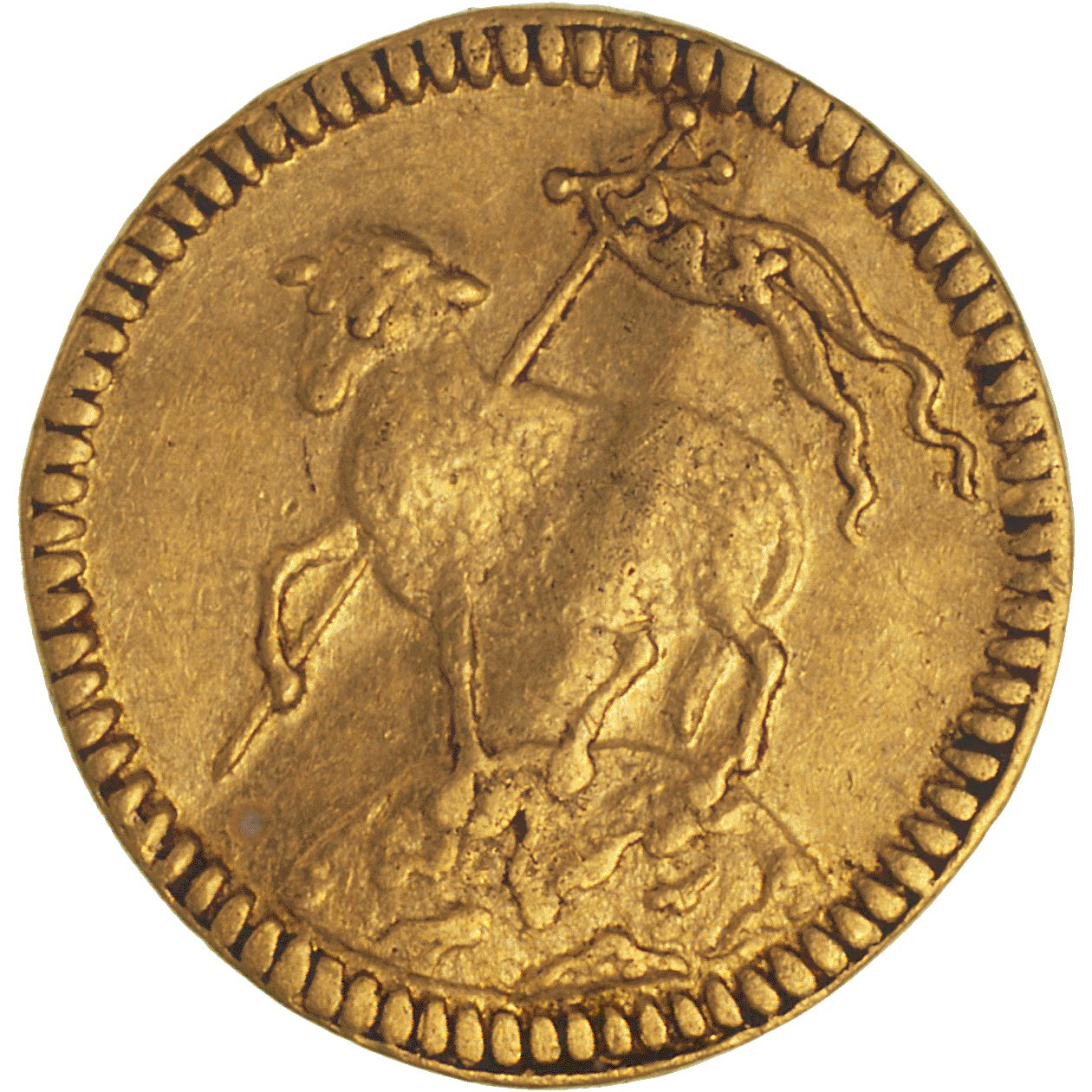 Holy Roman Empire, City of Nuremberg, 1/4 Ducat (reverse)