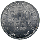 German Empire, Weimar Republic, 500 Mark 1923 (obverse)