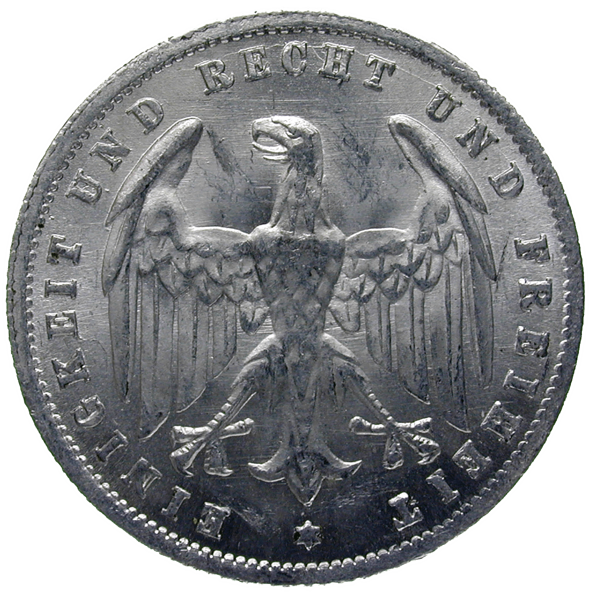 German Empire, Weimar Republic, 500 Mark 1923 (reverse)