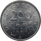 German Empire, Weimar Republic, 200 Mark 1923 (obverse)
