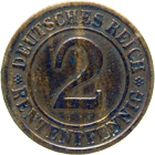 German Empire, Weimar Republic, 2 Rentenpfennig 1924 (obverse)