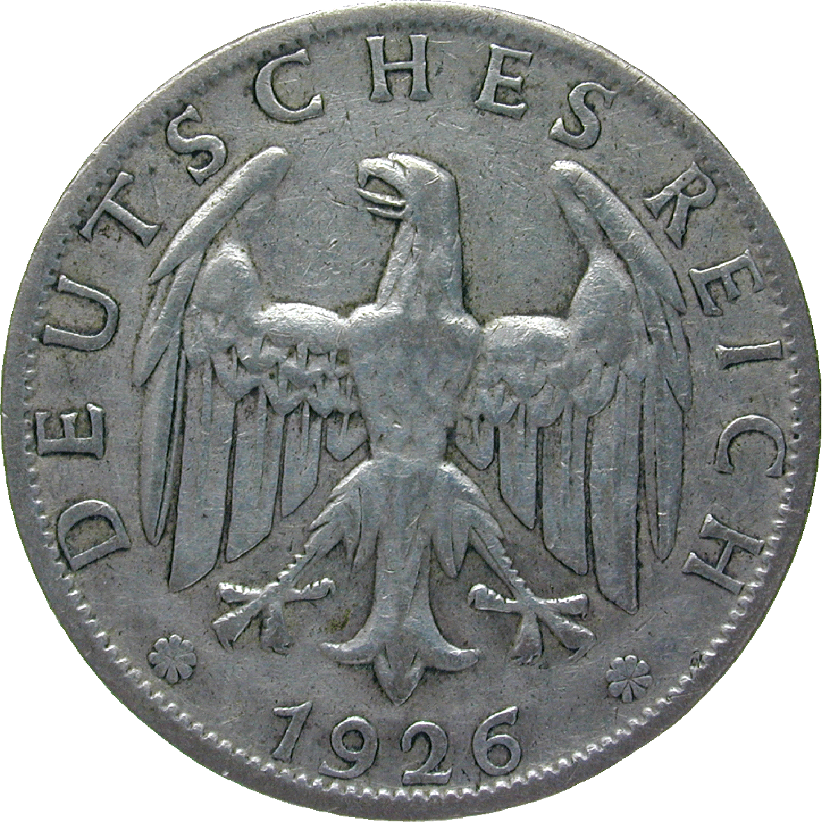 German Empire, Weimar Republic, 2 Reichsmark 1926 (obverse)