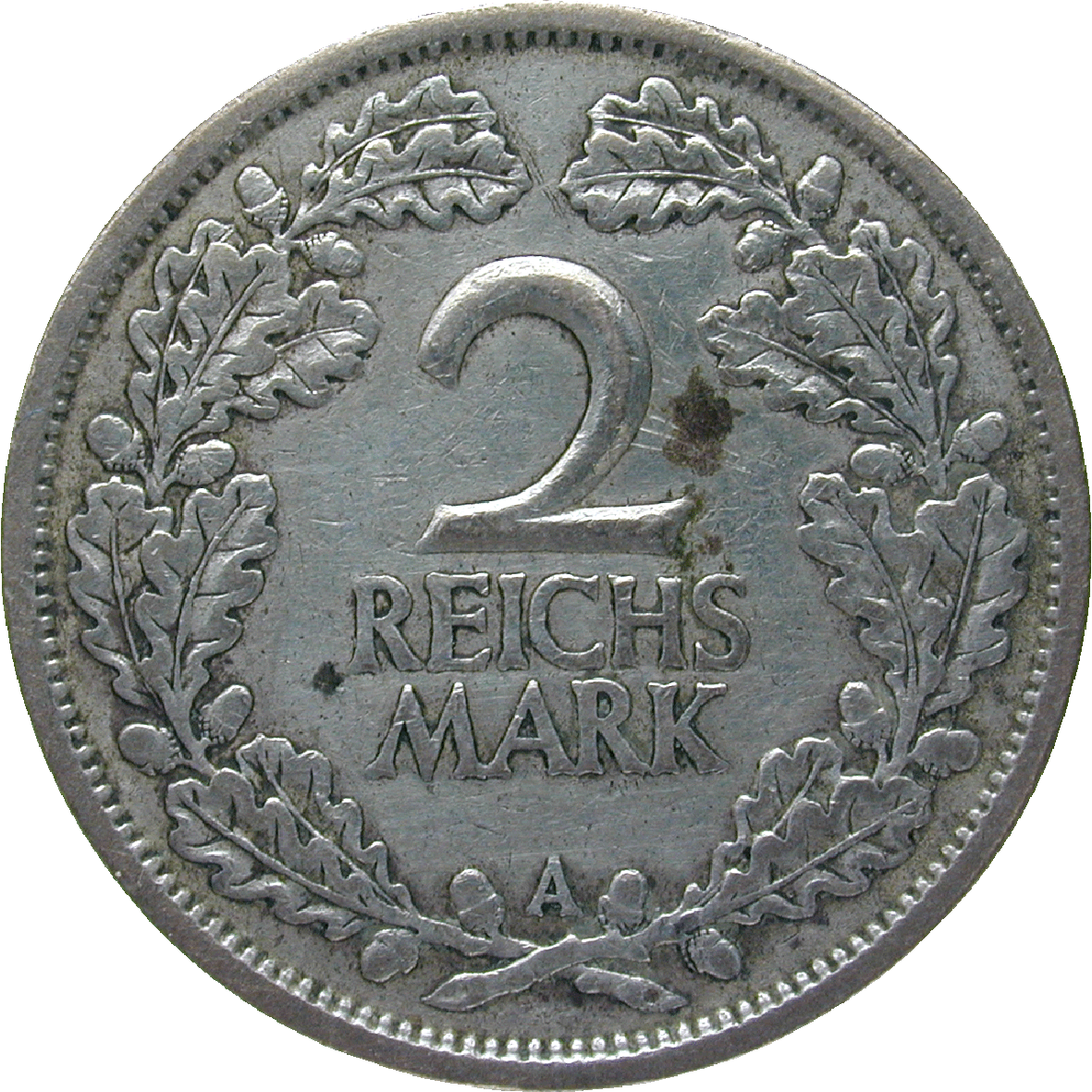 German Empire, Weimar Republic, 2 Reichsmark 1926 (reverse)
