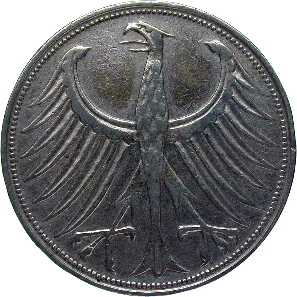 Federal Republic of Germany, 5 Deutsche Mark 1951 (reverse)