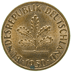 Federal Republic of Germany, 1 Pfennig 1950 (obverse)
