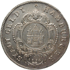 Holy Roman Empire, Free City of Hamburg in the Name of Leopold I, 2 Mark 1694 (obverse)