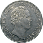 Kingdom of Saxony, Frederick August II, Taler 1844 (obverse)