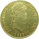 Kingdom of Spain, Ferdinand VII, Double Escudo 1826 (obverse)