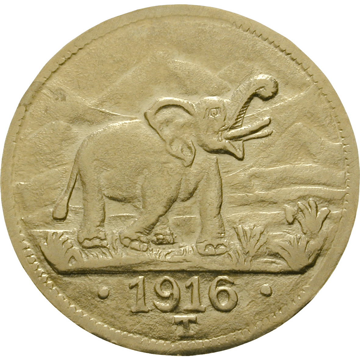 German Empire for German East Africa, William II, 15 Rupees 1916 (reverse)