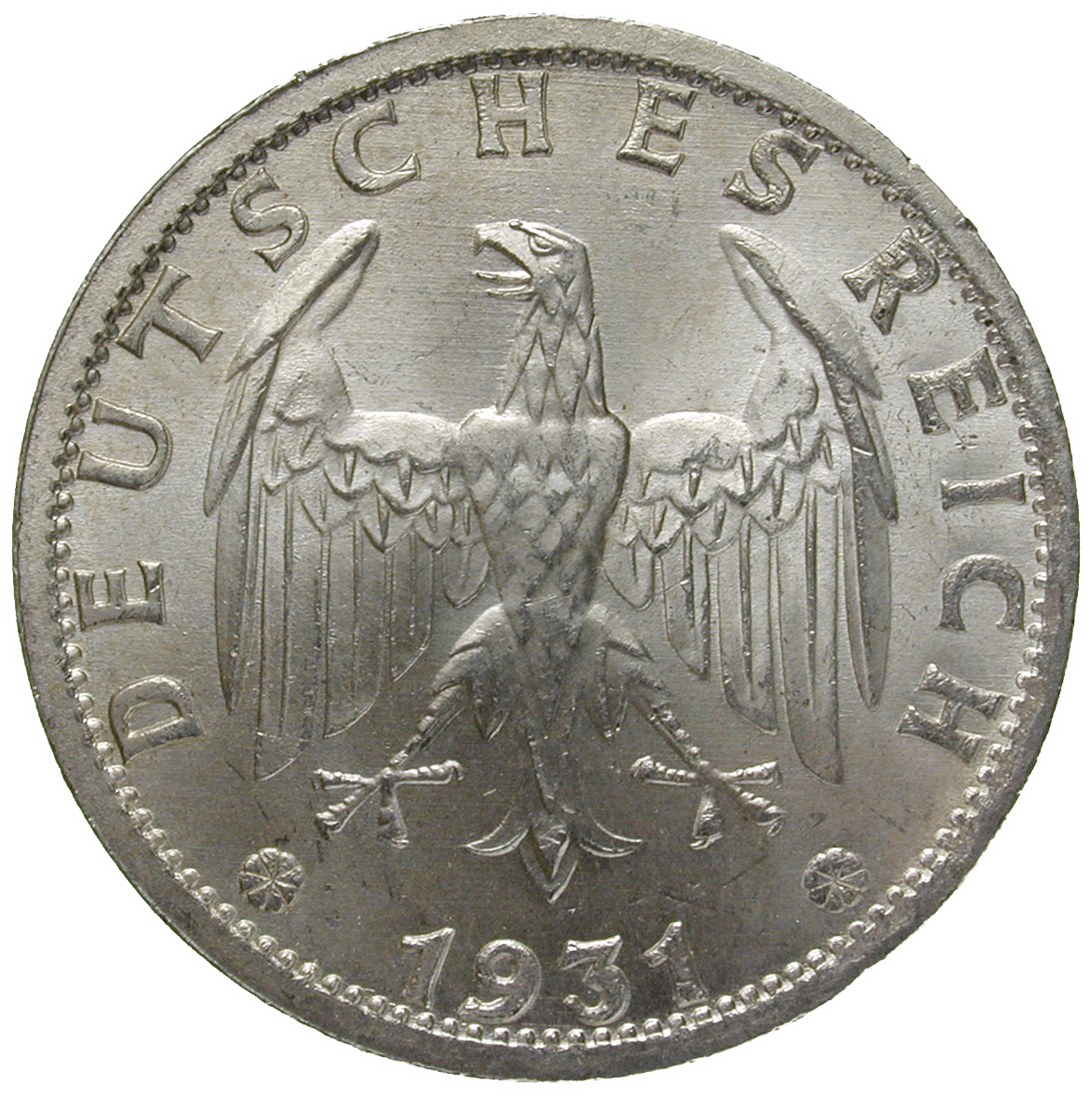German Empire, Weimar Republic, 3 Reichsmark 1931 (obverse)