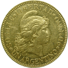 Republic of Argentina, 1 Argentino or 5 Pesos 1886 (obverse)