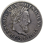 Kingdom of France, Henry II, Teston (obverse)
