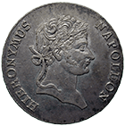 Kingdom of Westphalia, Jerome Napoleon, Convention Taler 1812 (obverse)