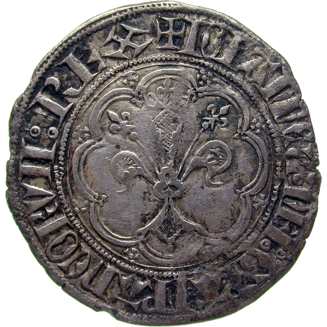 Kingdom of France, John II the Good, Gros (obverse)