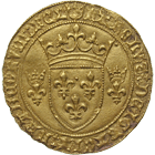 Kingdom of France, Charles VII, Ecu de France (obverse)