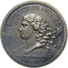 Republic of France, National Convention, Pattern coin, Year 1 of the Republic (obverse)