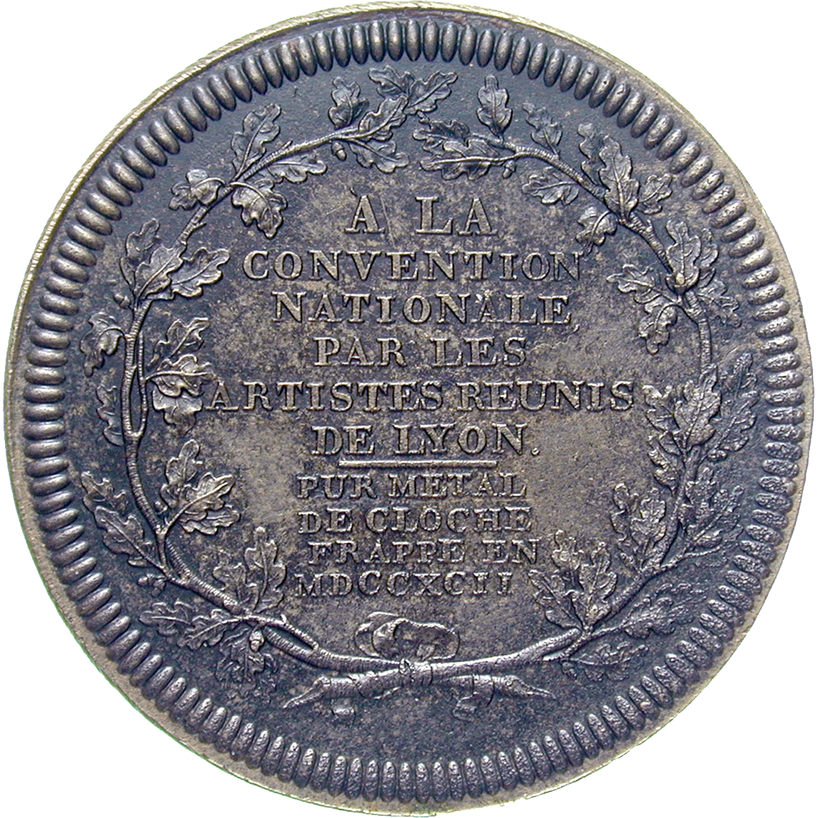 Republic of France, National Convention, Pattern coin, Year 1 of the Republic (reverse)