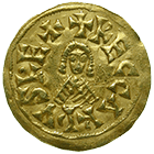 Visigoth Empire, Reccared I, Tremissis (obverse)