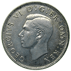 United Kingdom of Great Britain, George VI, Florin 1946 (obverse)
