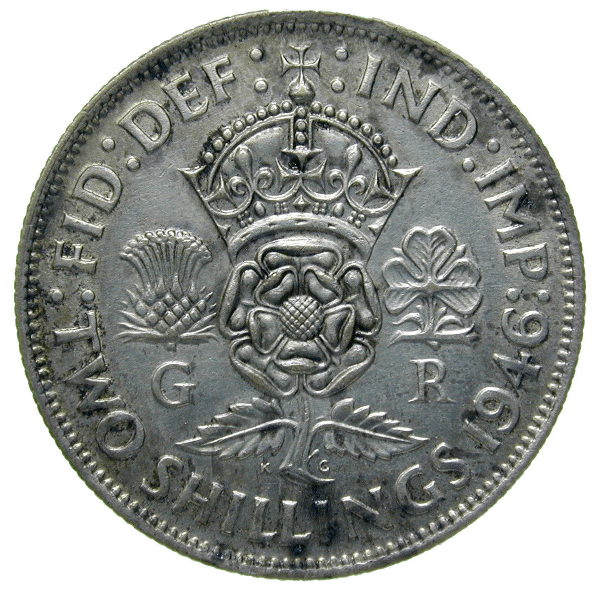 United Kingdom of Great Britain, George VI, Florin 1946 (reverse)