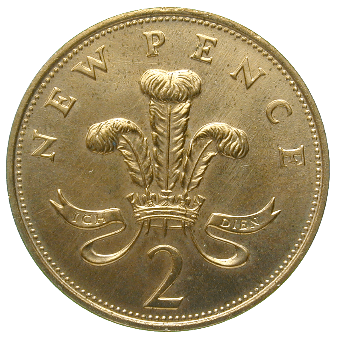 United Kingdom of Great Britain, Elizabeth II, 2 New Pence 1971 (reverse)