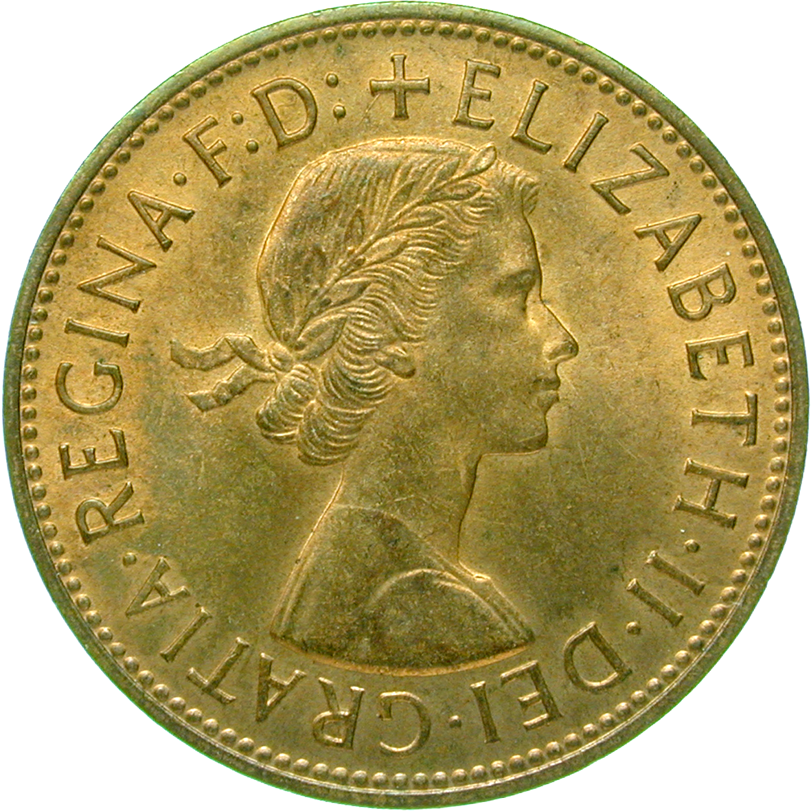 United Kingdom of Great Britain, Elizabeth II, 1 Penny 1967 (obverse)