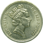United Kingdom of Great Britain, Elizabeth II, 1 Pound 1992 (obverse)