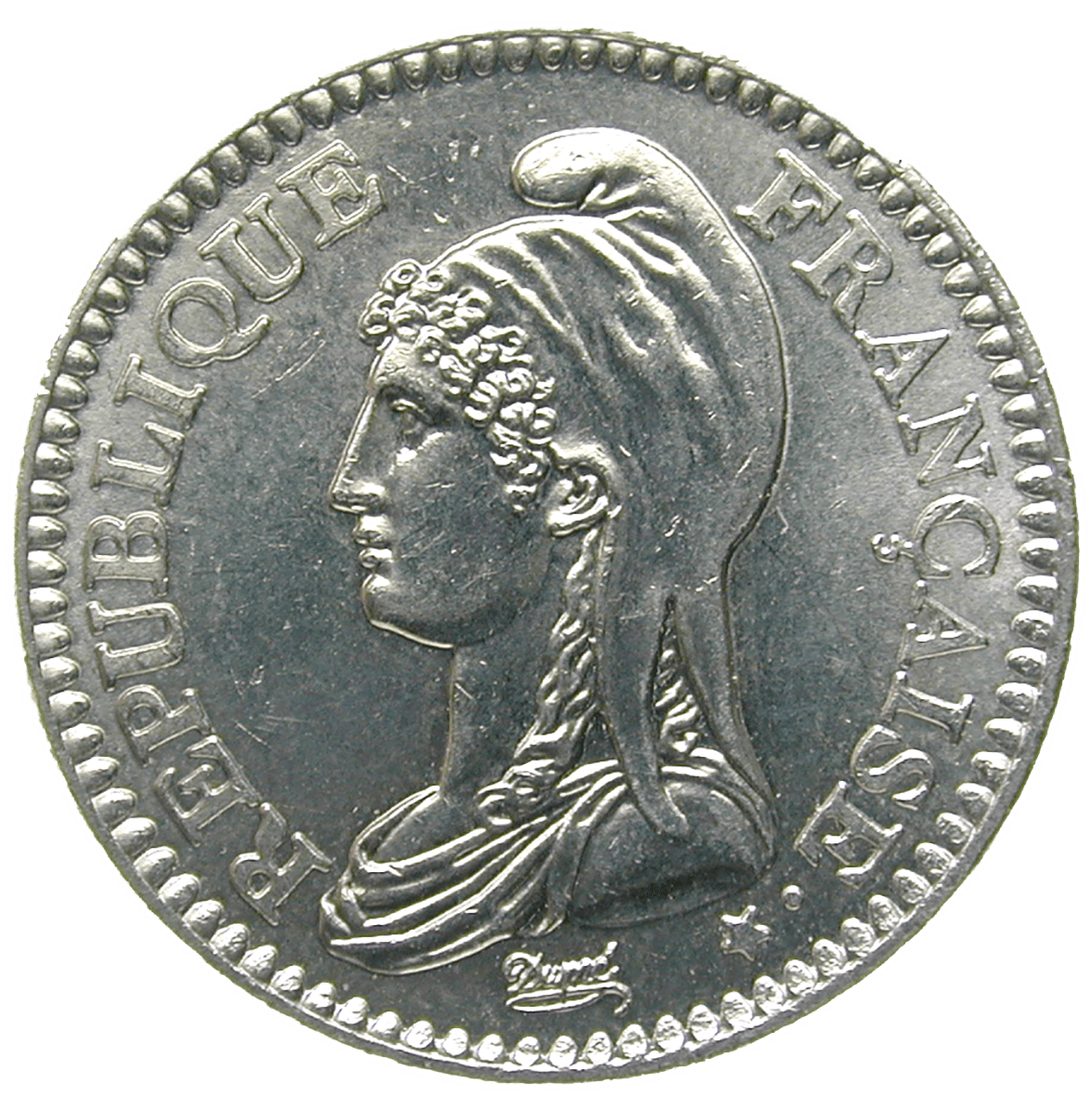 Republic of France, 1 Franc 1992 (obverse)