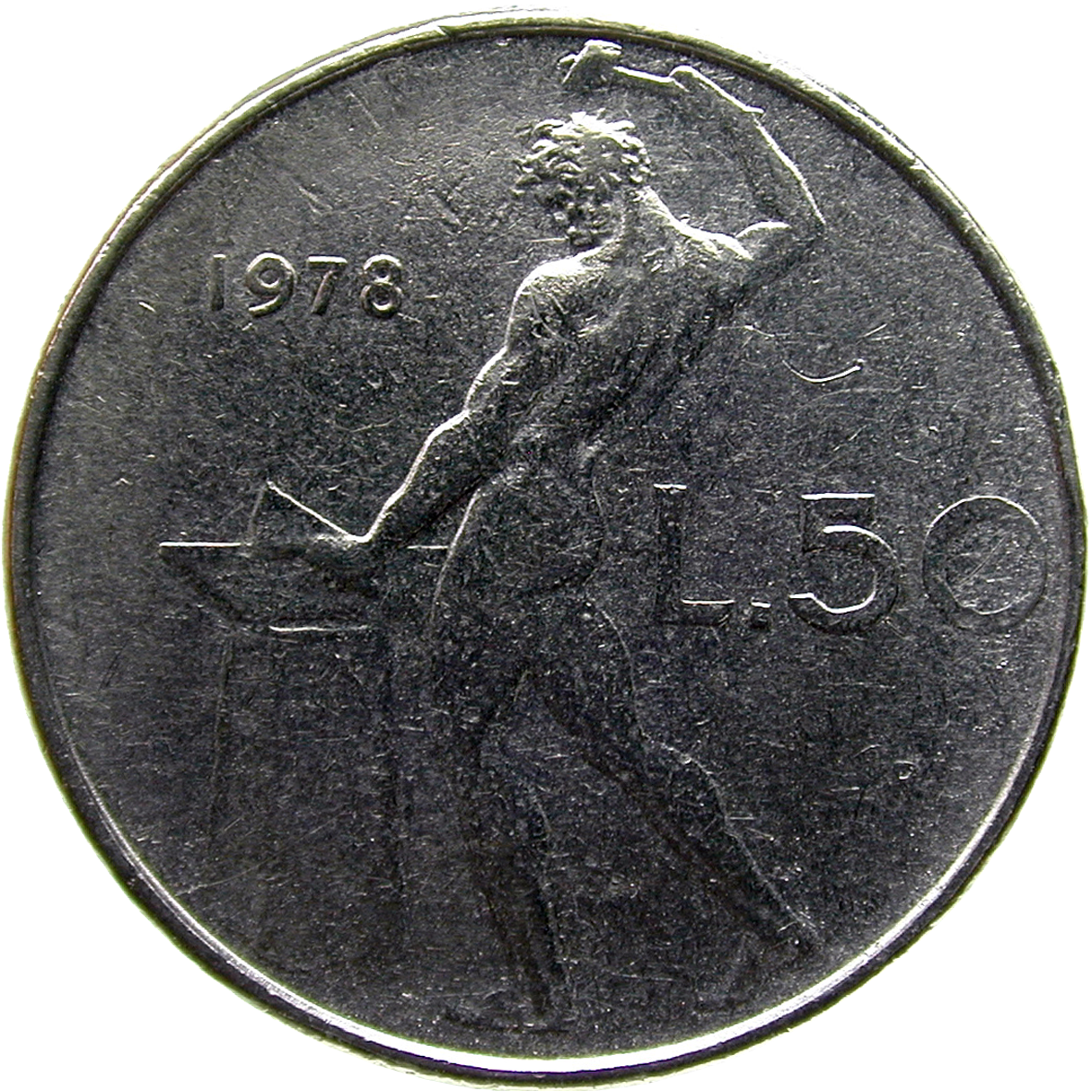 Republic of Italy, 50 Lire 1978 (reverse)