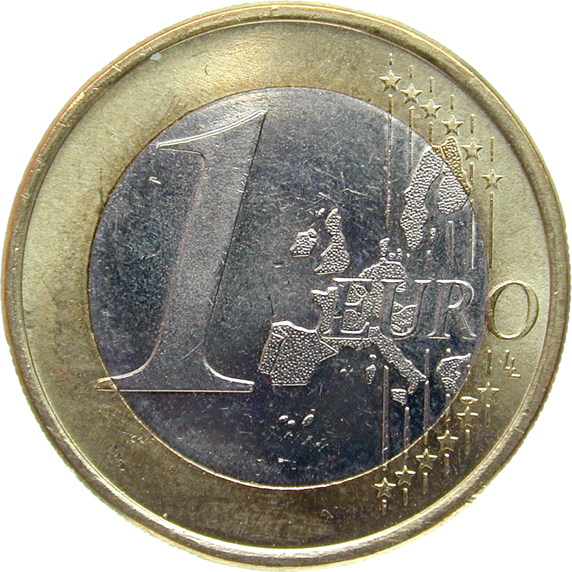 Federal Republic of Germany, 1 Euro 2002 (obverse)