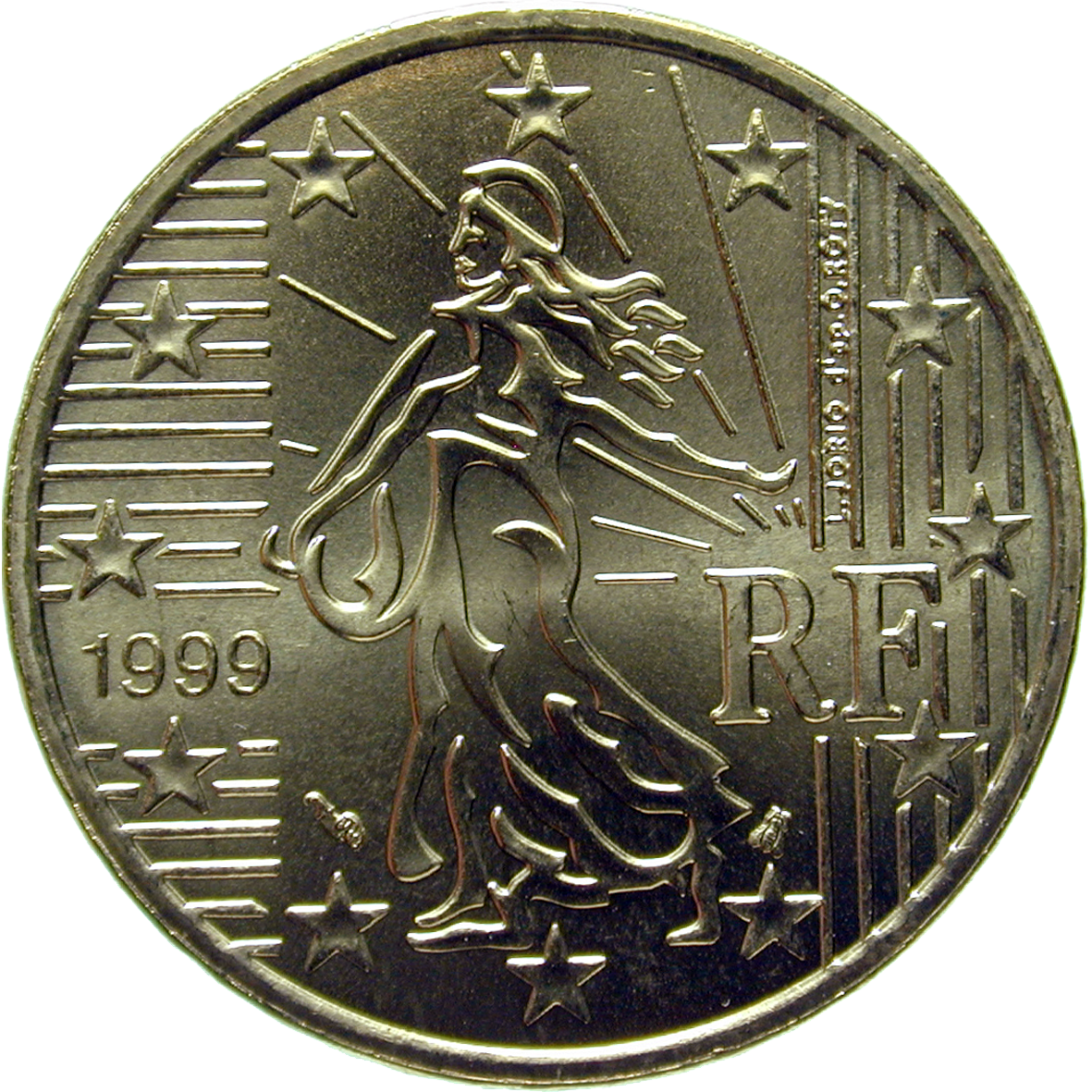 Republic of France, 50 Euro Cent 1999 (reverse)