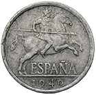 Spain, Nationalist Government, Caudillo Francisco Franco, 5 Centimos 1940 (obverse)