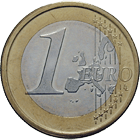Kingdom of Spain, Juan Carlos I, 1 Euro 2001 (obverse)