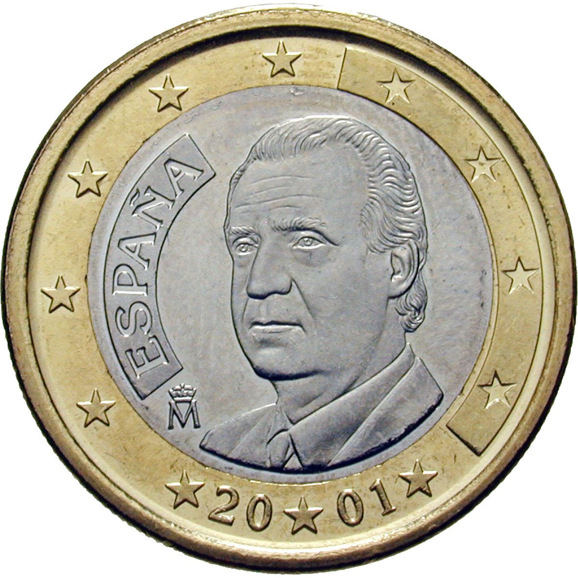 Kingdom of Spain, Juan Carlos I, 1 Euro 2001 (reverse)