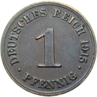German Empire, Wilhelm II, 1 Pfennig 1915 (obverse)