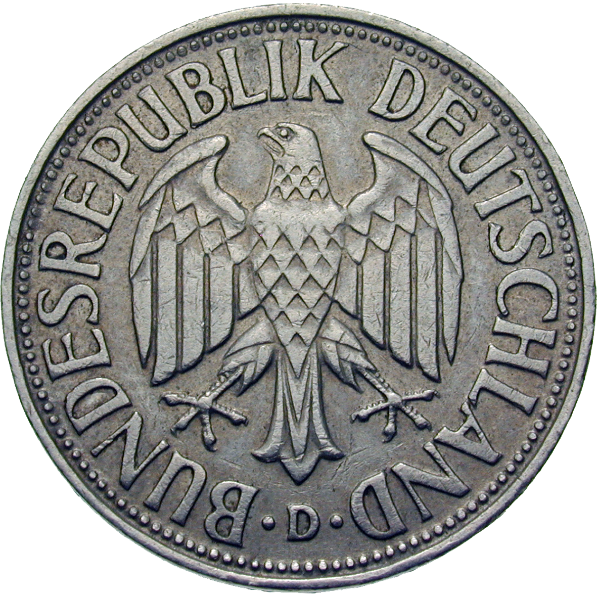 Federal Republic of Germany, 1 Deutsche Mark 1955 (obverse)