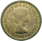 United Kingdom of Great Britain, Elizabeth II, Farthing 1953 (obverse)