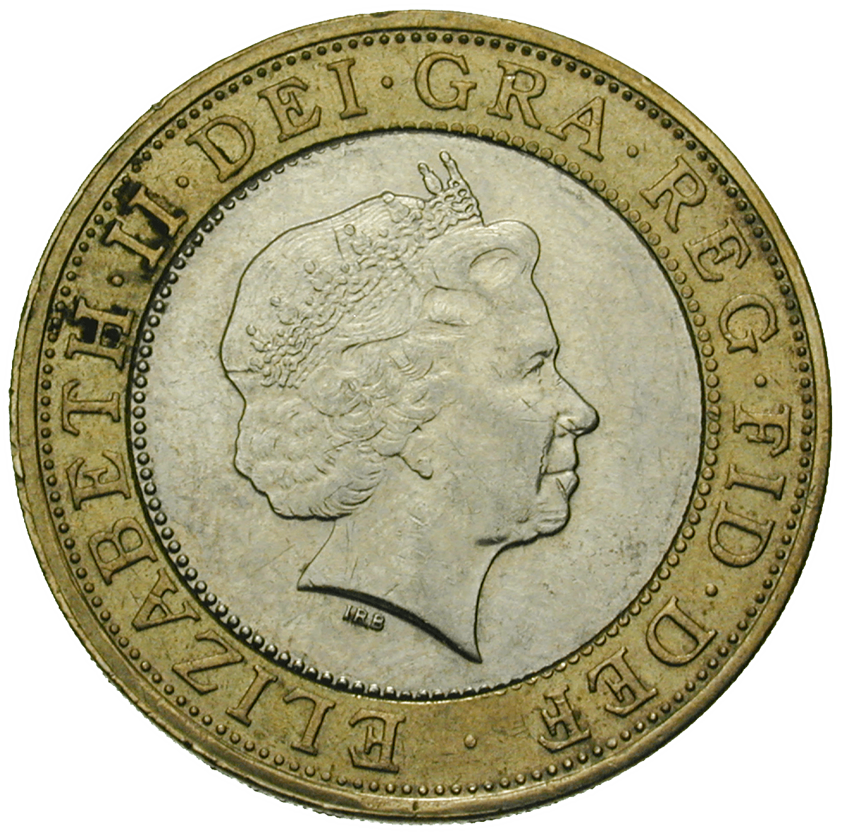 United Kingdom of Great Britain, Elizabeth II, 2 Pounds 1998 (obverse)