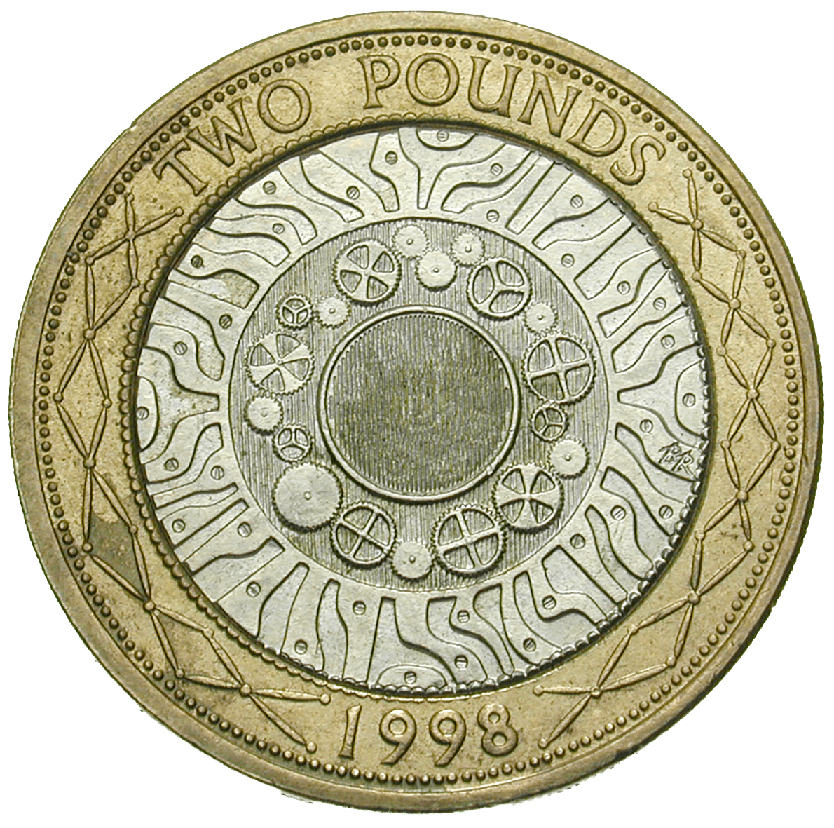 United Kingdom of Great Britain, Elizabeth II, 2 Pounds 1998 (reverse)