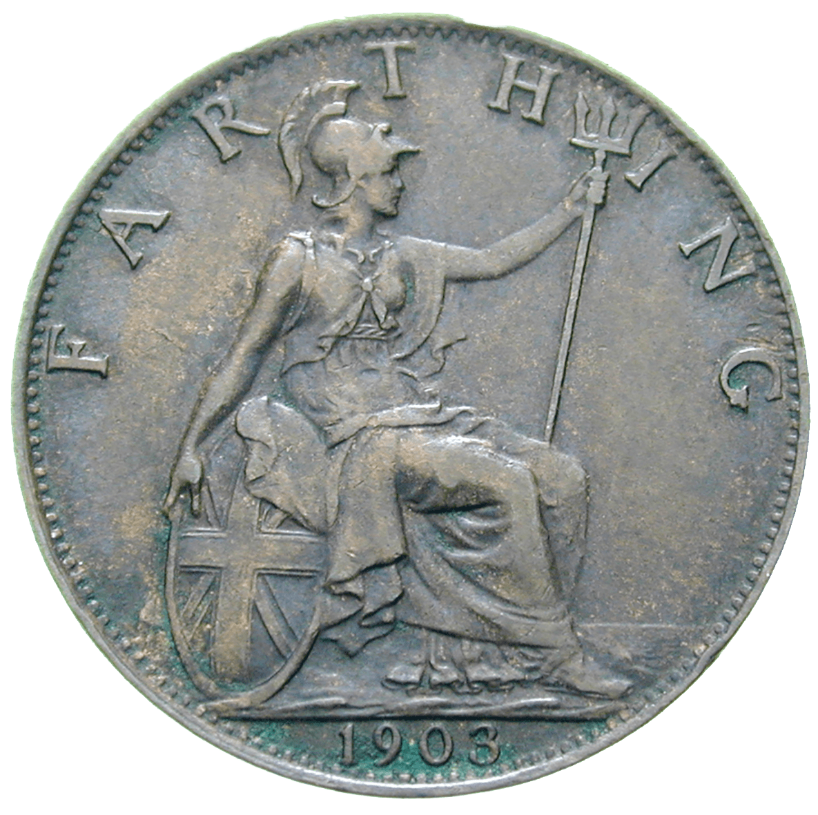 United Kingdom of Great Britain, Edward VII, Farthing 1903 (reverse)