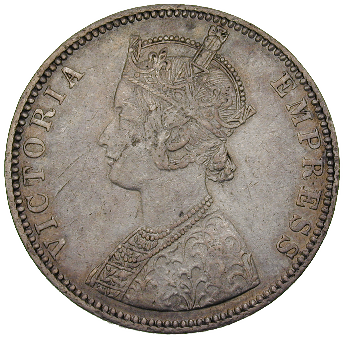 British Empire, Victoria for India, 1 Rupee 1901 (obverse)