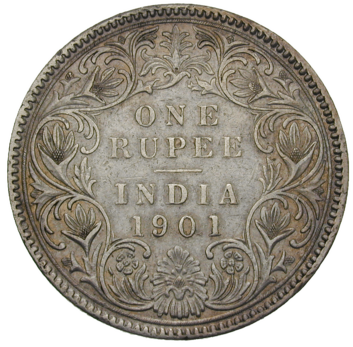 British Empire, Victoria for India, 1 Rupee 1901 (reverse)
