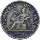 Republic of France, Chambres de Commerce de France, Bon pour 1 Franc 1921 (obverse)