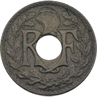Republic of France, 5 Centimes 1919 (obverse)