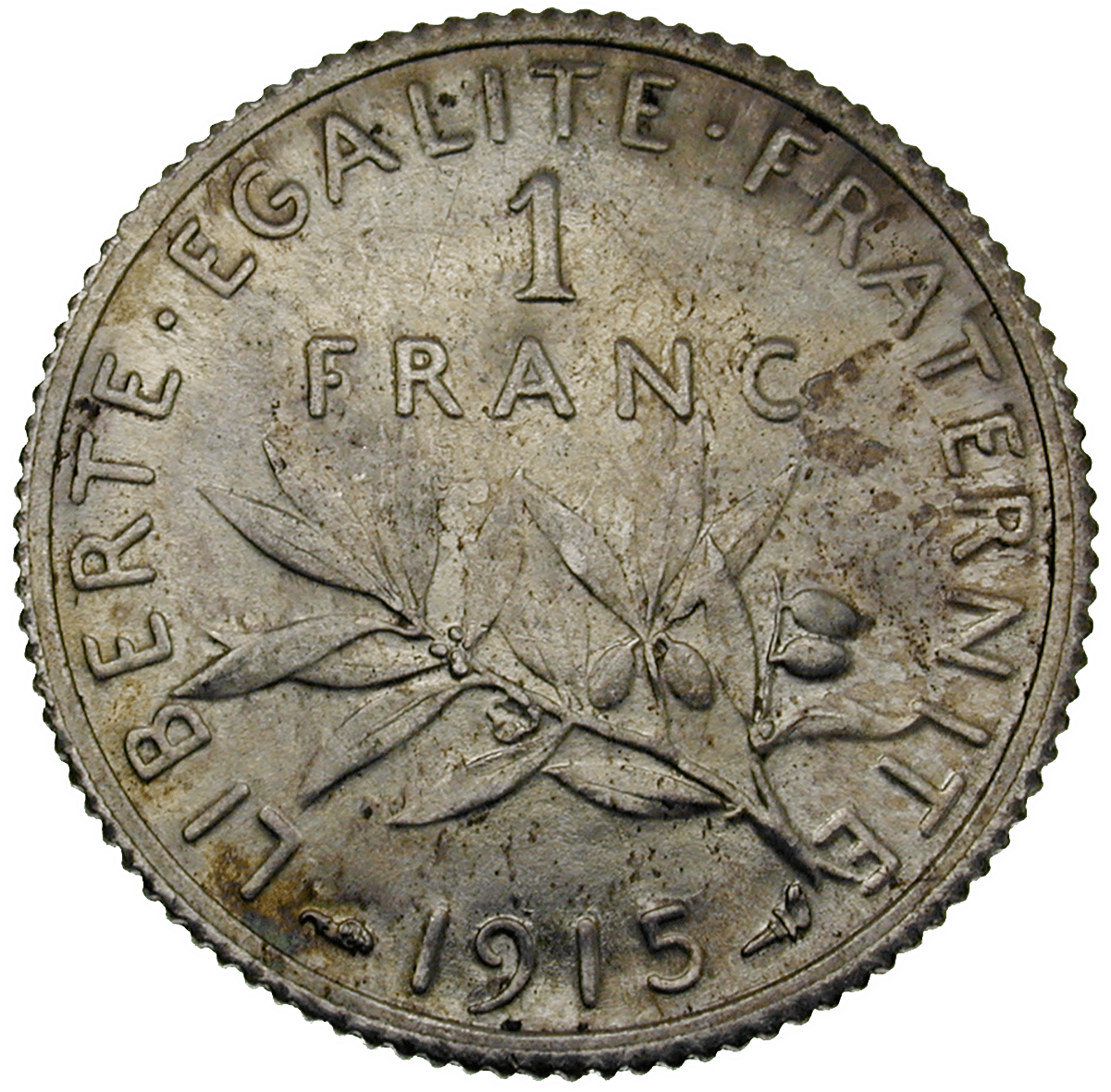 Republic of France, 1 Franc 1915 (reverse)