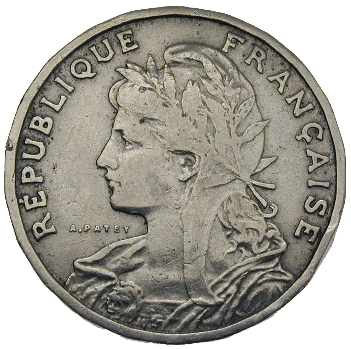 Republic of France, 25 Centimes 1904 (obverse)