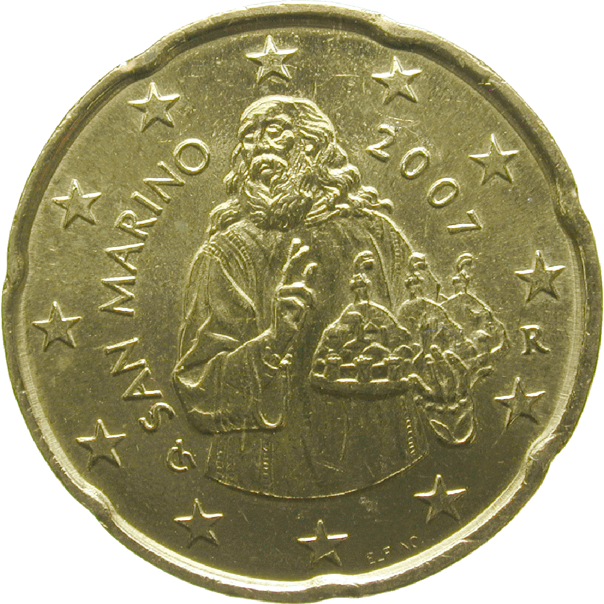 Republic of San Marino, 20 Euro Cent 2008 (reverse)