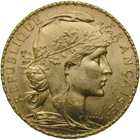 Republic of France, 20 Francs 1910 (obverse)