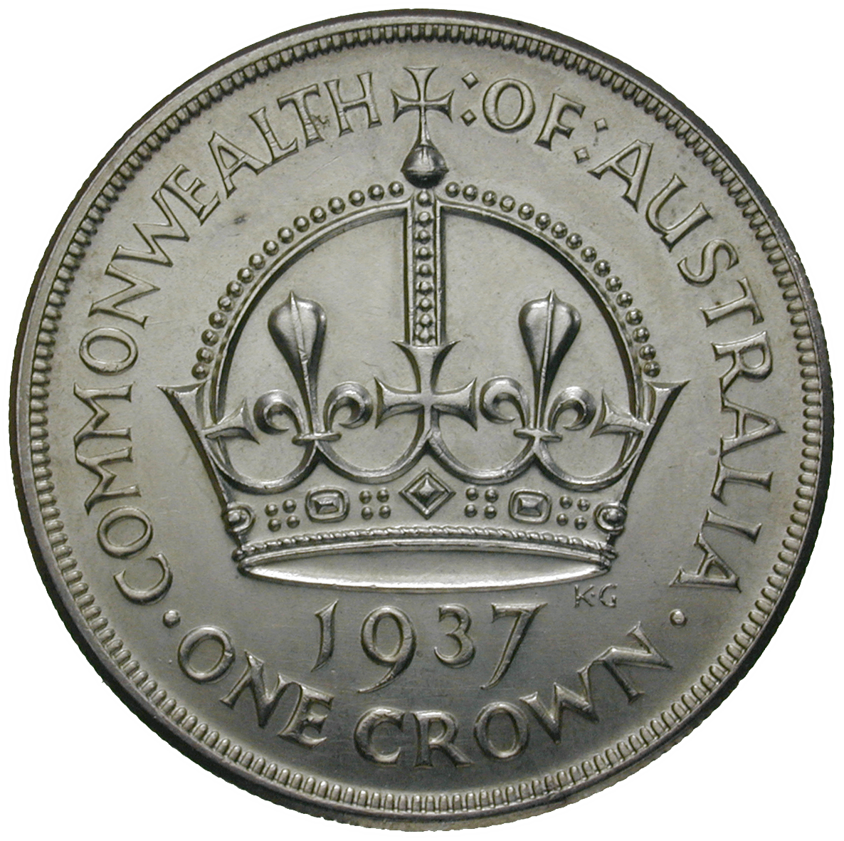 United Kingom of Great Britain for Australia, George VI, 1 Crown 1937 (reverse)